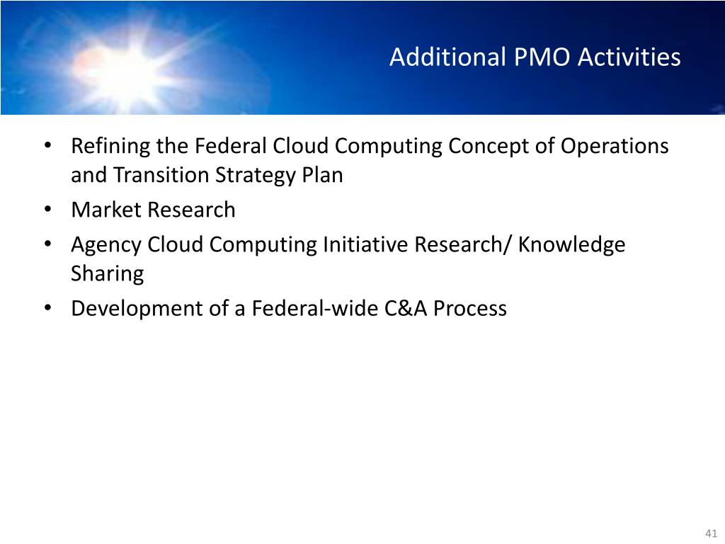 Additional PMO Activities