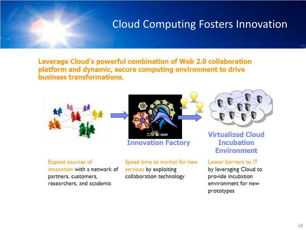 Cloud Computing Fosters Innovation