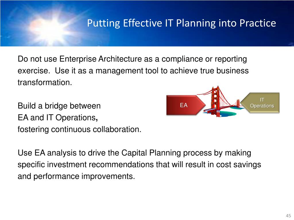 Putting Effective IT Planning into Practice