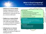 what is cloud computing three main types of services