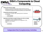 disa s components to cloud computing