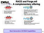race and forge mil a complementary offering