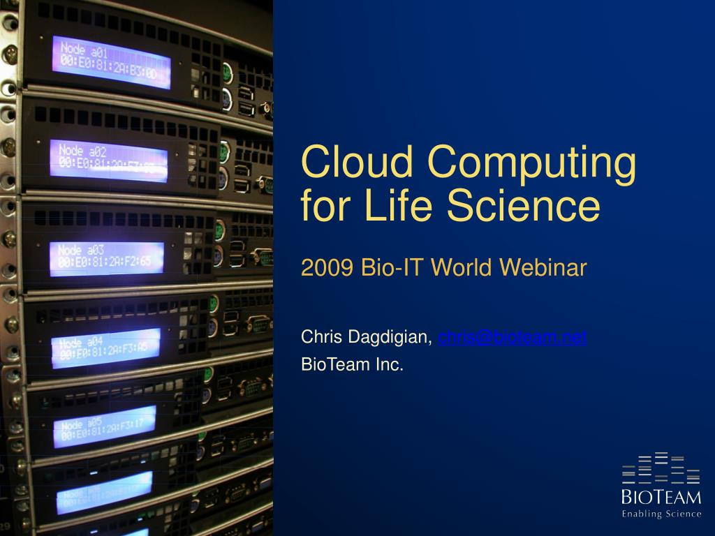 cloud computing for life science l.