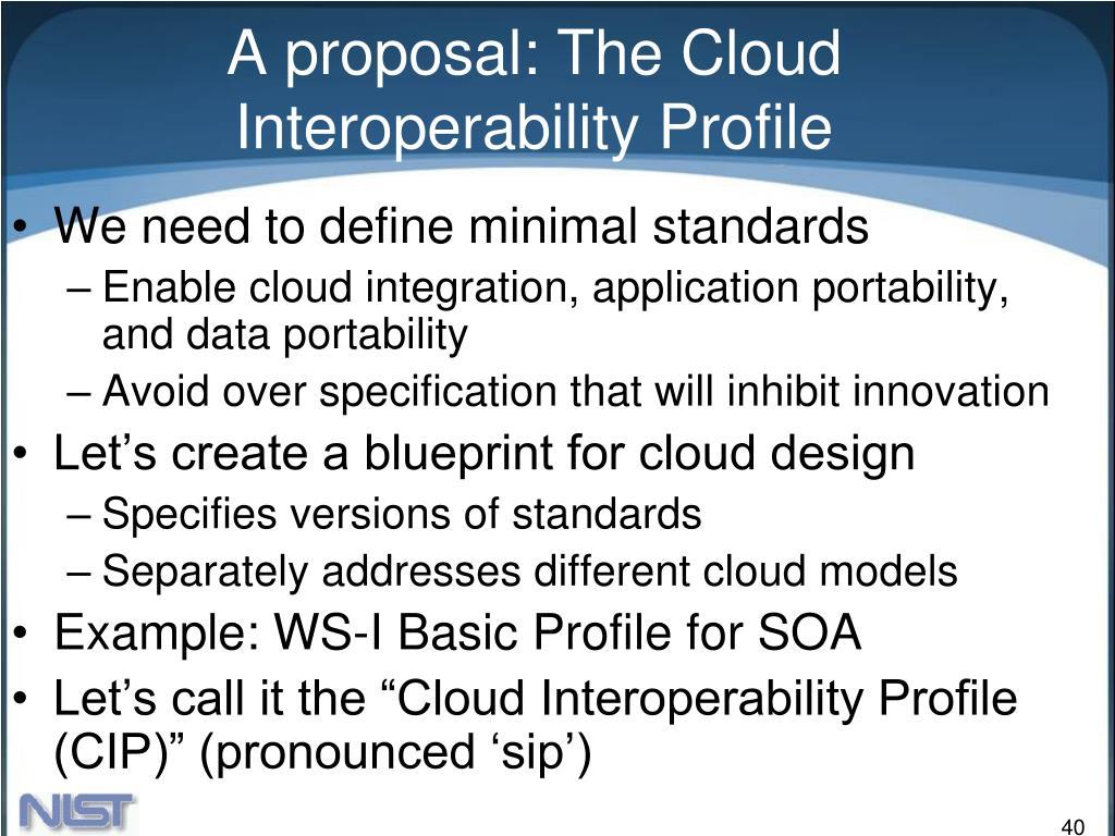 A proposal: The Cloud