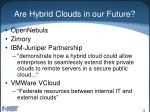 are hybrid clouds in our future