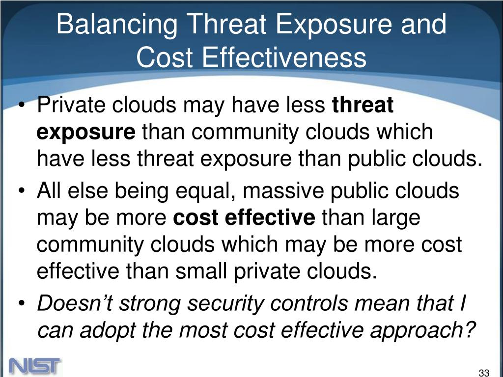 Balancing Threat Exposure and Cost Effectiveness