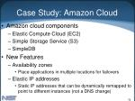 case study amazon cloud