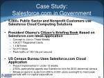 case study salesforce com in government