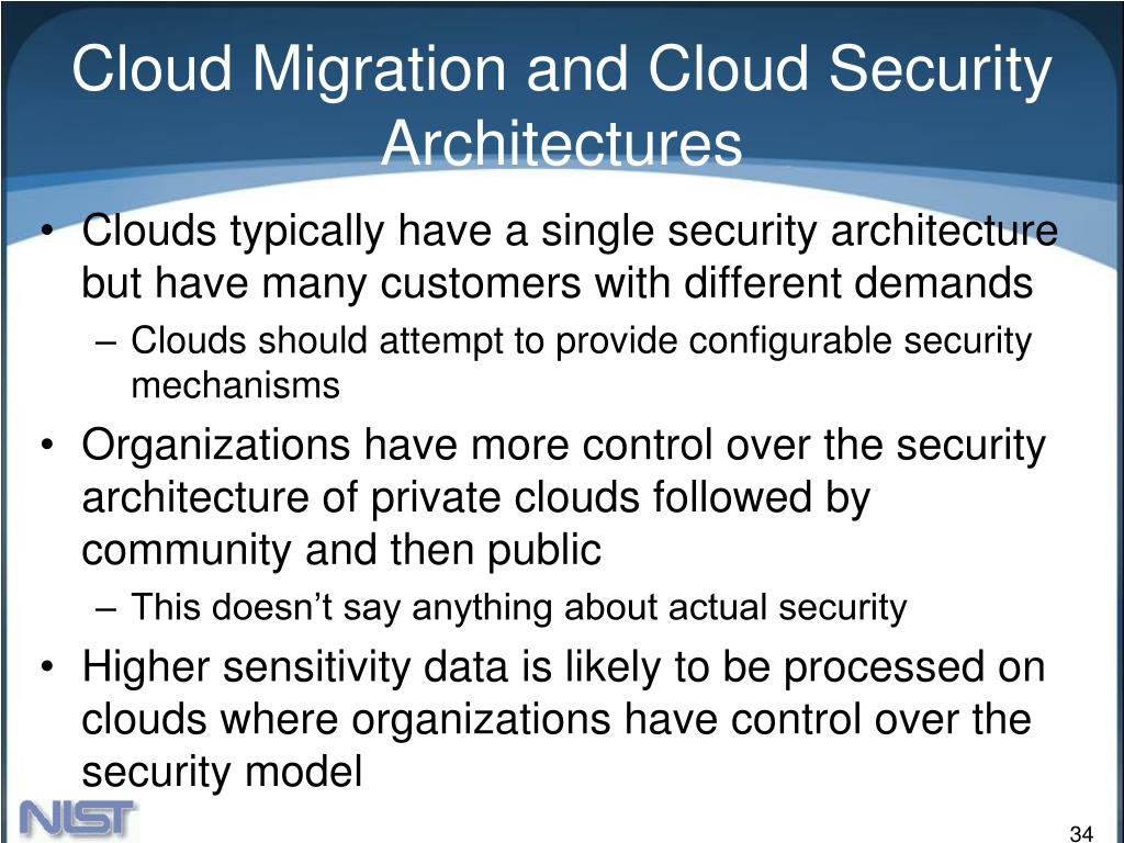 Cloud Migration and Cloud Security Architectures