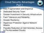 cloud security advantages part 1