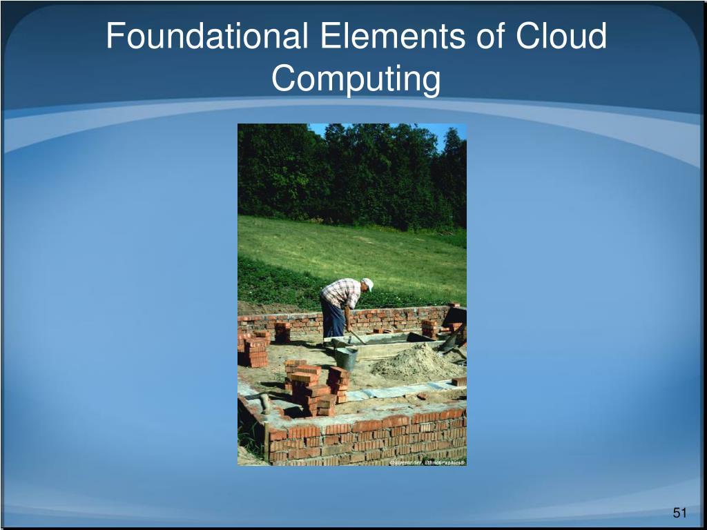 Foundational Elements of Cloud Computing