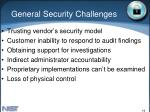 general security challenges
