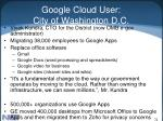 google cloud user city of washington d c