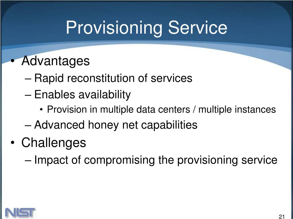 Provisioning Service