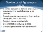service level agreements slas