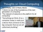thoughts on cloud computing47