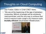 thoughts on cloud computing48
