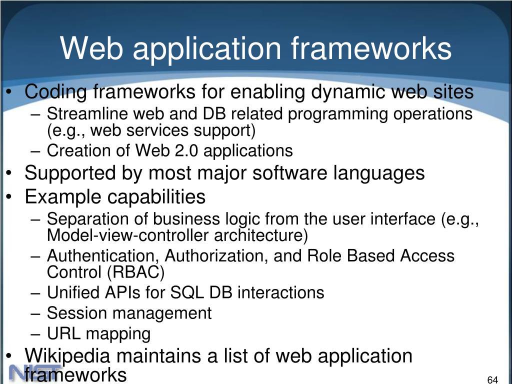 Web application frameworks