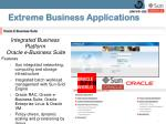 extreme business applications