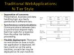 traditional webapplications n tier style