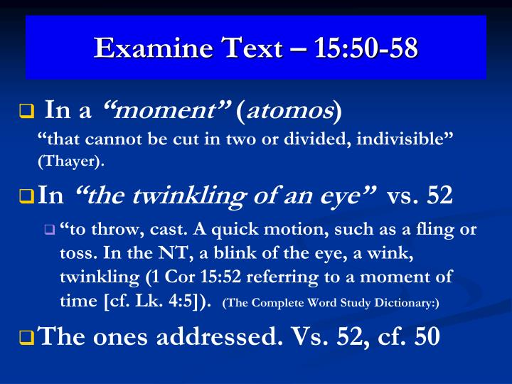 Examine Text – 15:50-58