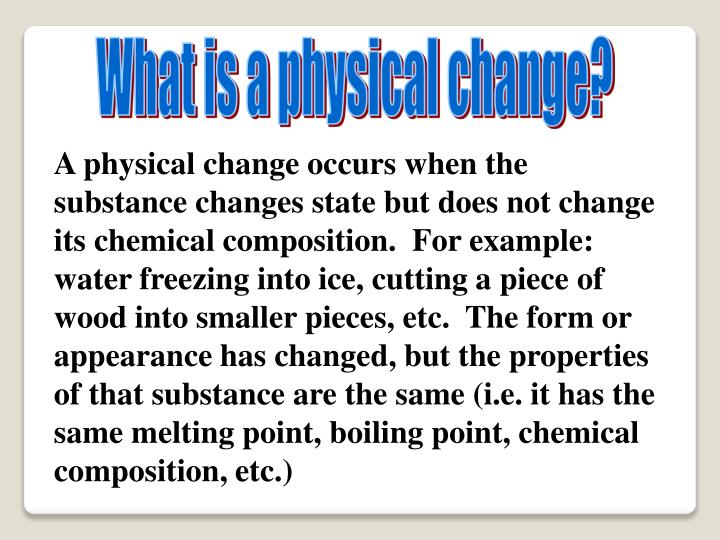 Ppt Physical And Chemical Changes Powerpoint Presentation Id1206085