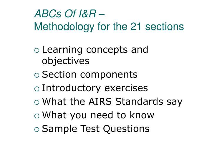 ABCs Of I&R