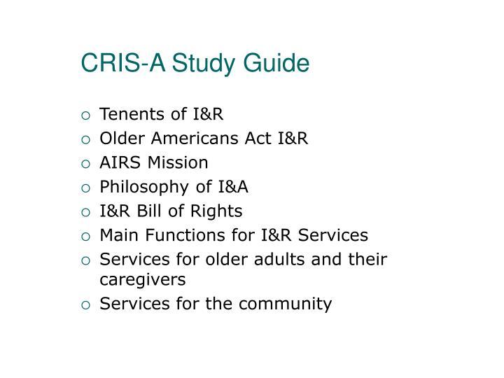CRIS-A Study Guide