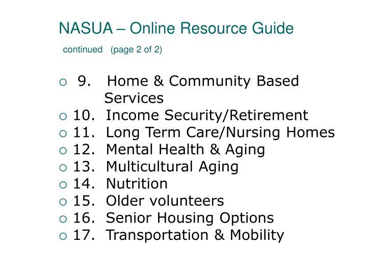 NASUA – Online Resource Guide