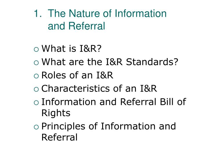 The Nature of Information