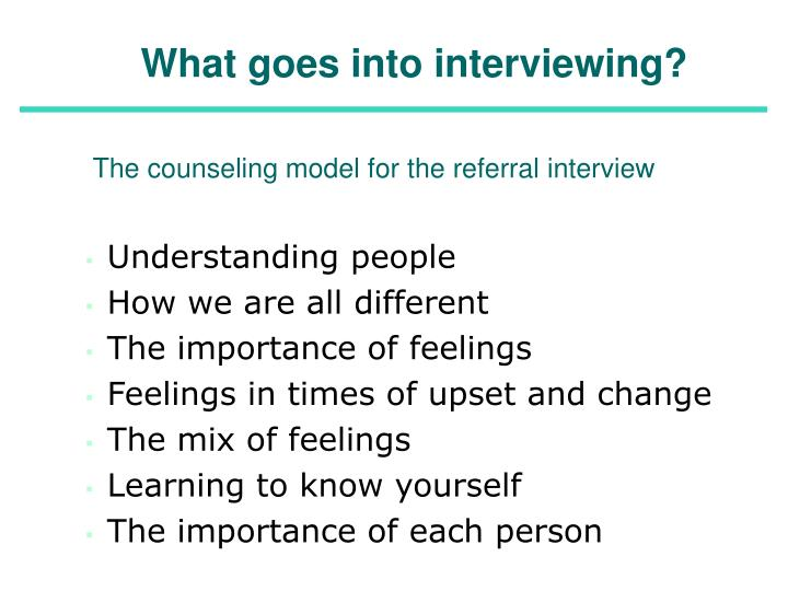 What goes into interviewing?