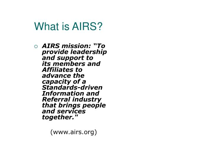 What is AIRS?