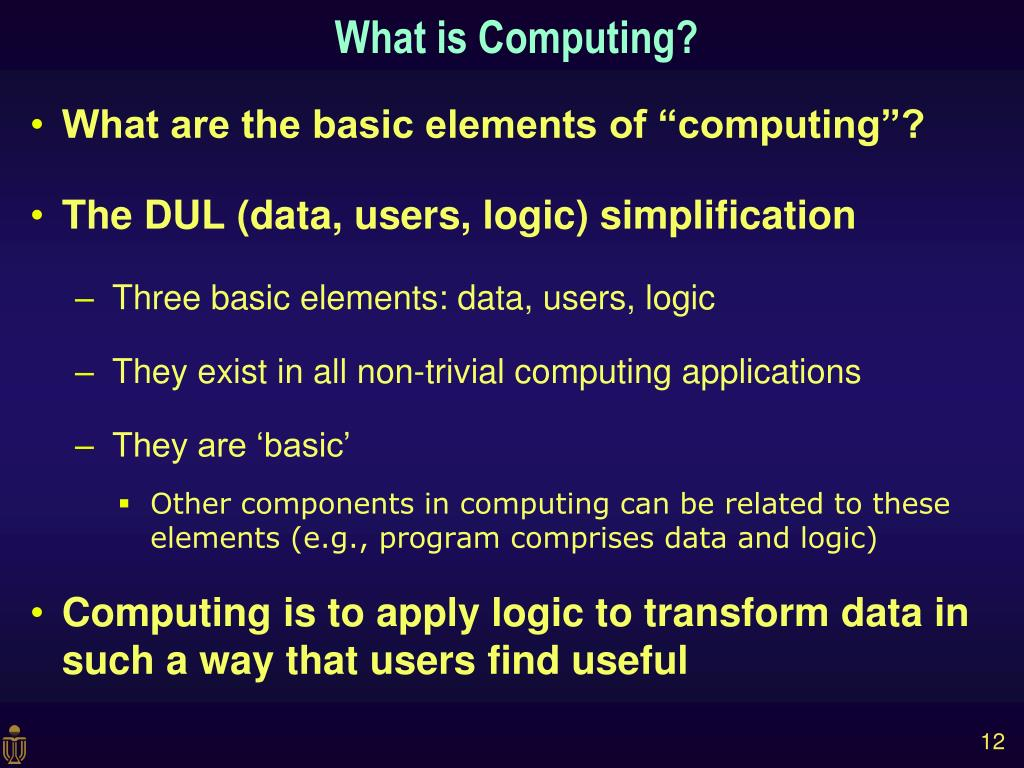 What is Computing?