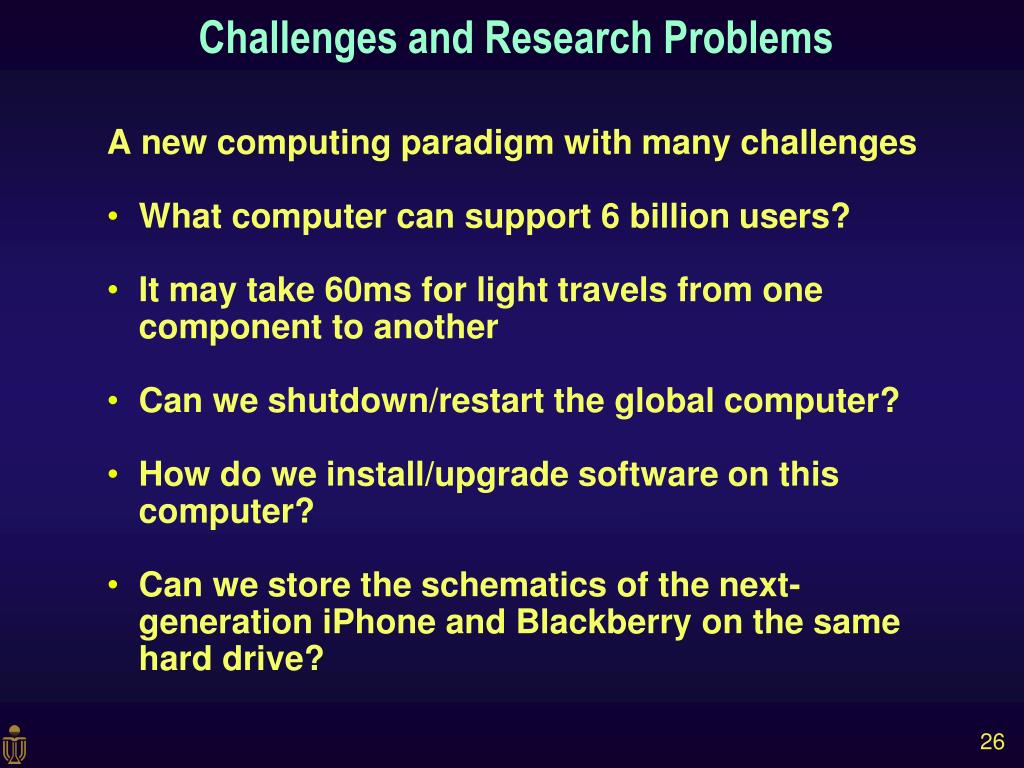 A new computing paradigm with many challenges