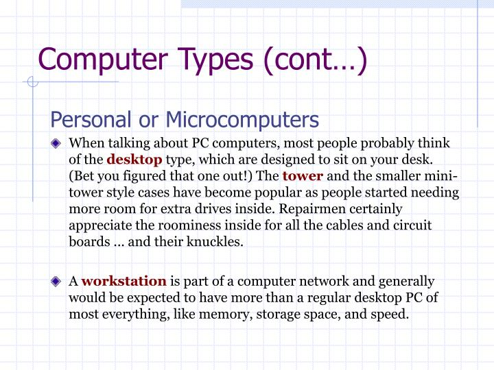 Computer Types (cont…)