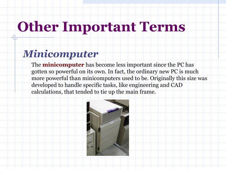 Other Important Terms