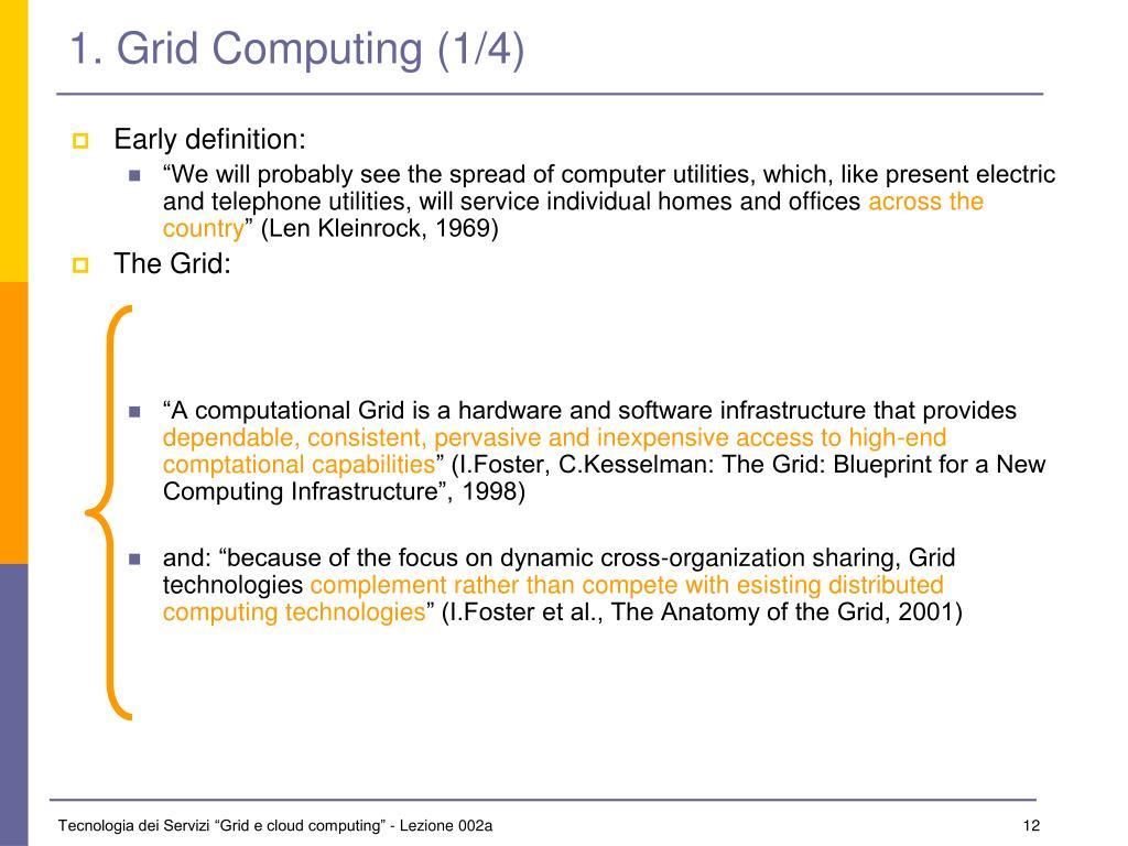 1. Grid Computing (1/4)
