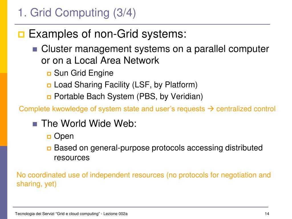 1. Grid Computing (3/4)