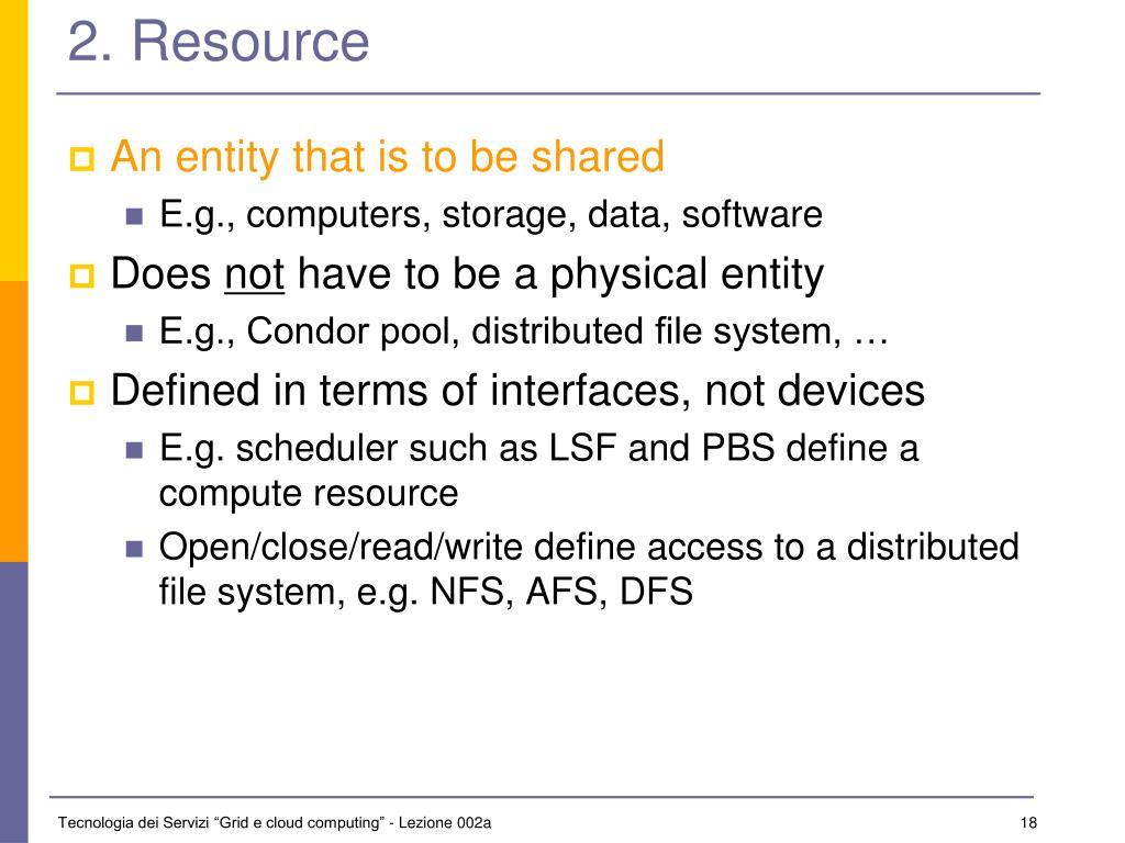 2. Resource