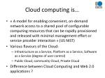 cloud computing is