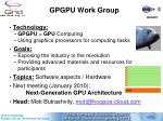 gpgpu work group