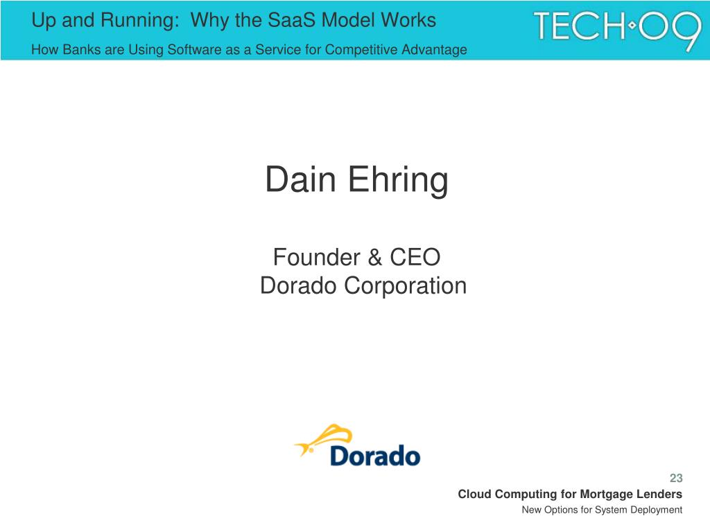 Up and Running:  Why the SaaS Model Works