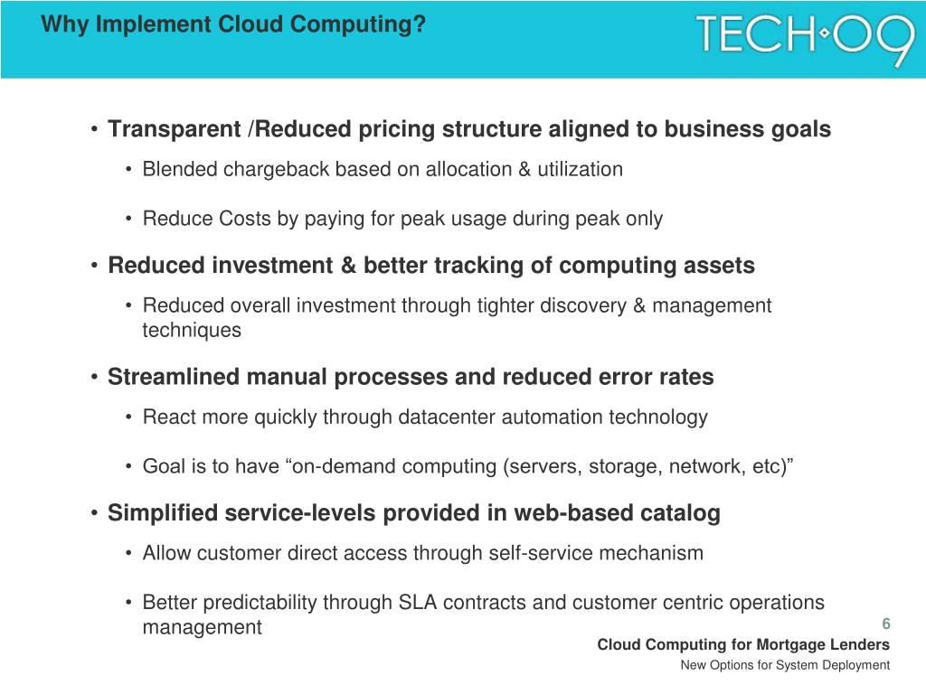 Why Implement Cloud Computing?