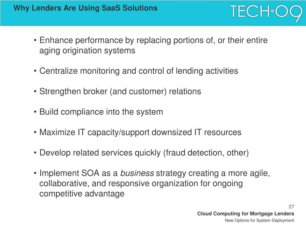 Why Lenders Are Using SaaS Solutions