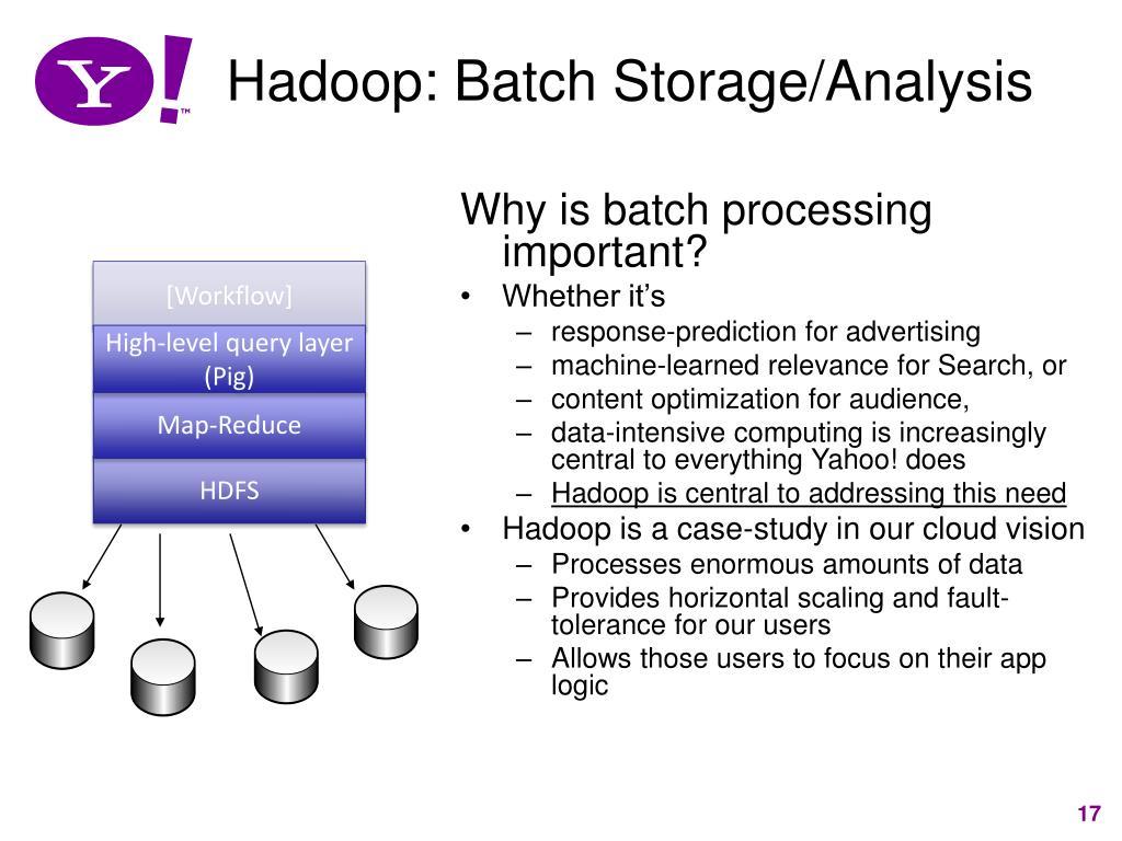 Hadoop: Batch Storage/Analysis