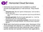 horizontal cloud services