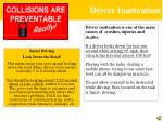 driver inattention