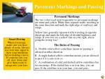 pavement markings and passing
