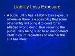 liability loss exposure