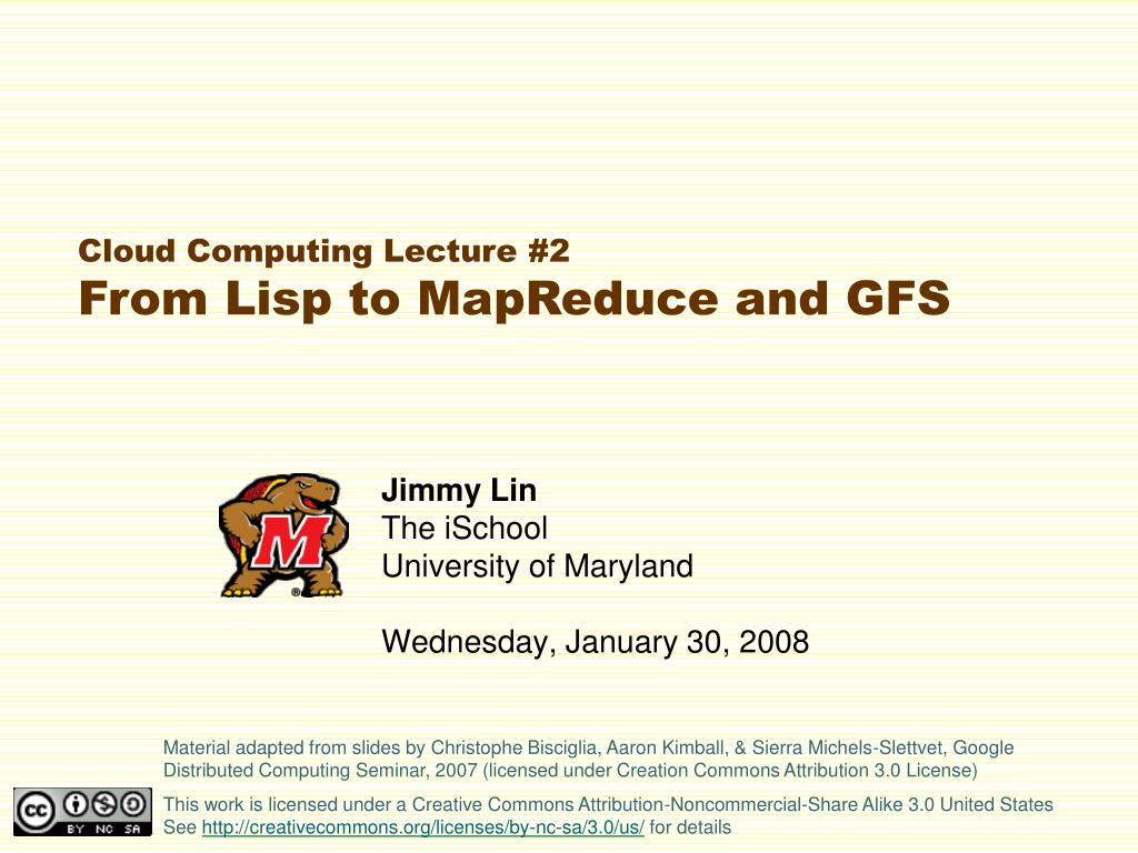 jimmy lin the ischool university of maryland wednesday january 30 2008 l.